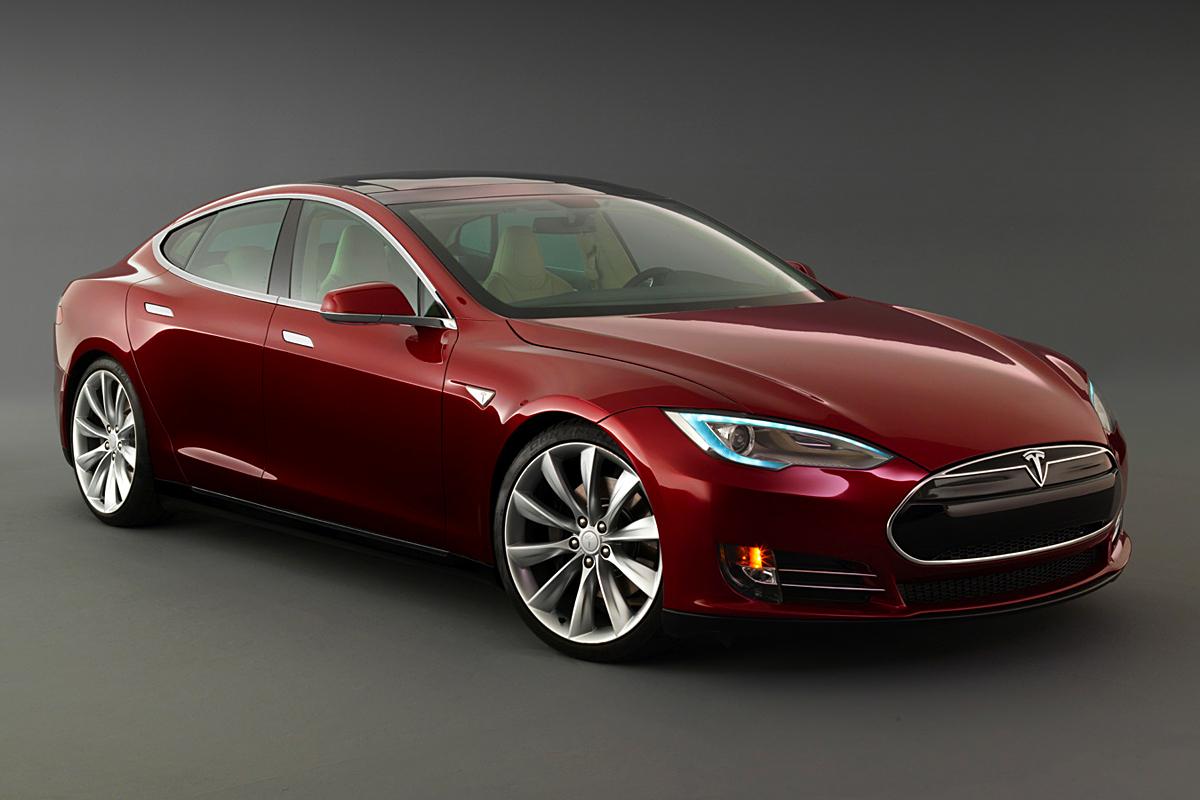Model S 17 Car Background Wallpaper