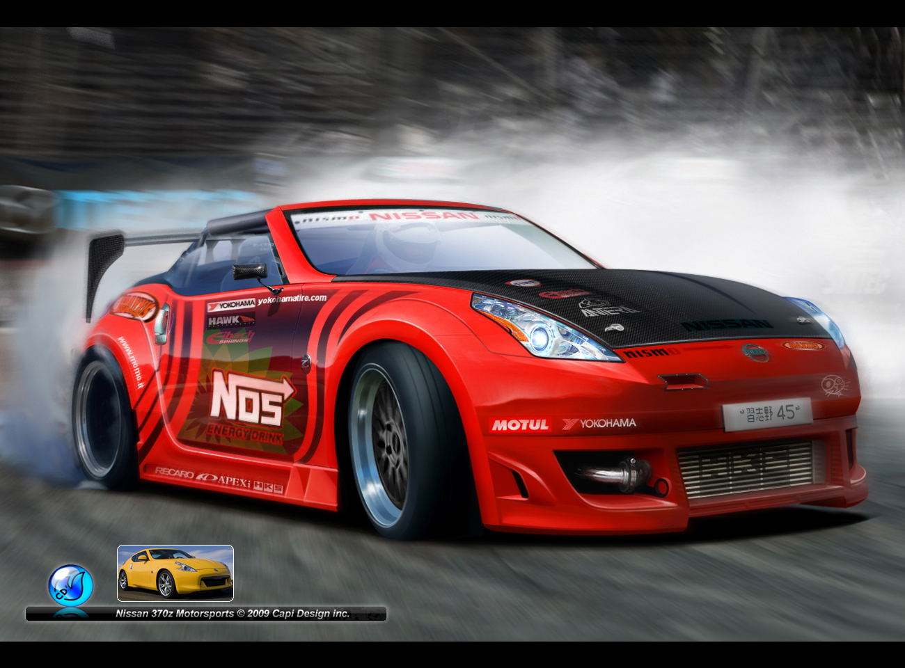 Nissan 370Z 35 Car Background Wallpaper