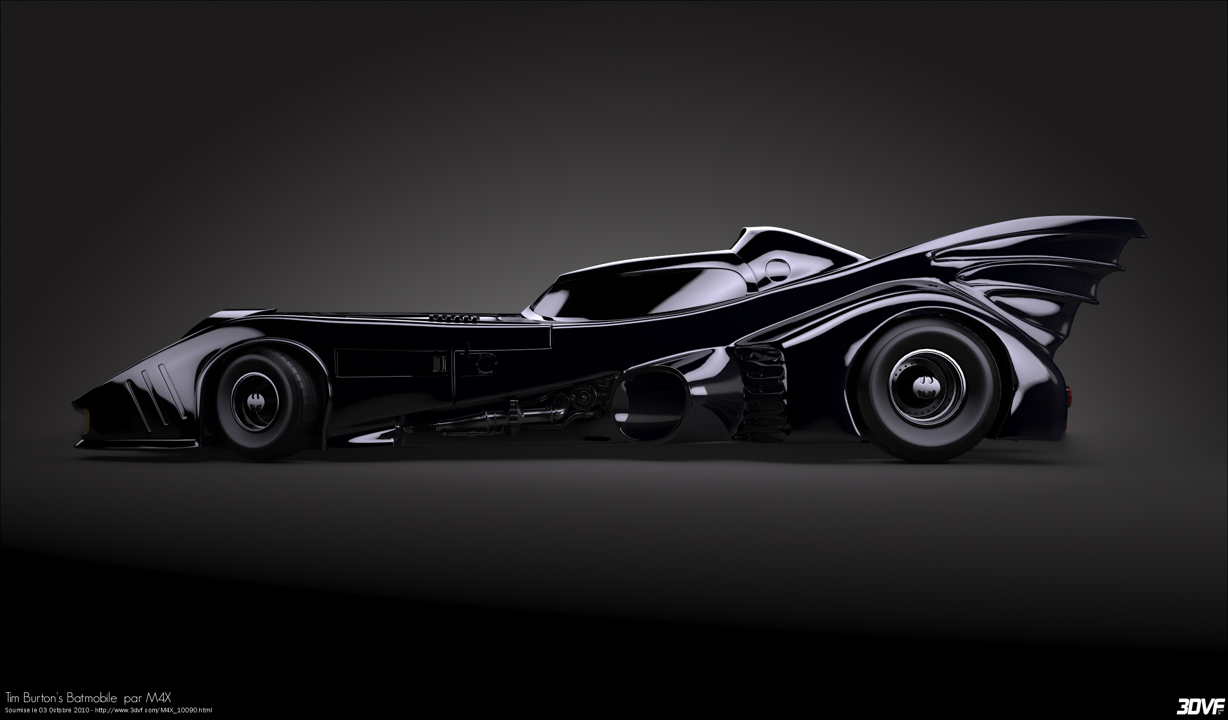 Batmobile 8 Car Desktop Background
